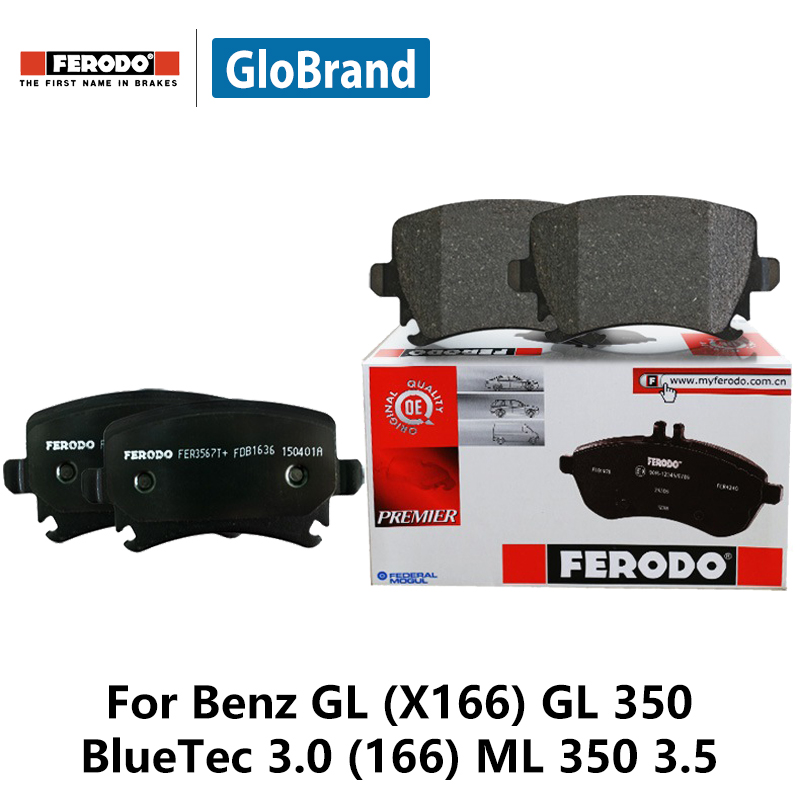 4pcs/lot Ferodo Rear Car Brake Pads For Benz GL (X166) GL 350 BlueTec 3.0 (166) ML 350 3.5 FDB4169 2pcs lot ferodo car rear brake disc for ford cruze 1 6 1 8 excell gt xt 16 tire 1 6 1 6t 1 8 ddf1872 d