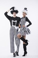 Adult Women Men Halloween Costumes Circus Clown Jumpsuit Costume Masquerade Carnival Party Devil Cosplay Costumes