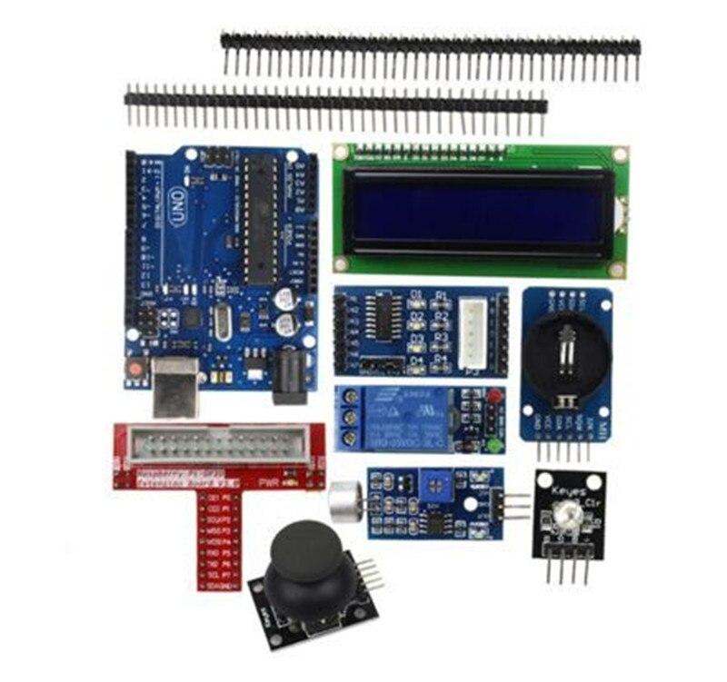 Enhanced Starter Kit for arduino 1602 LCD Servo Motor LED Relay RTC favourite 1602 1f