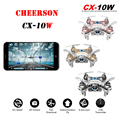 Cheerson CX-10W CX10W Mini Wifi FPV com 720 P câmera 2.4 G 4CH 6 Axis LED RC Quadcopter RTF