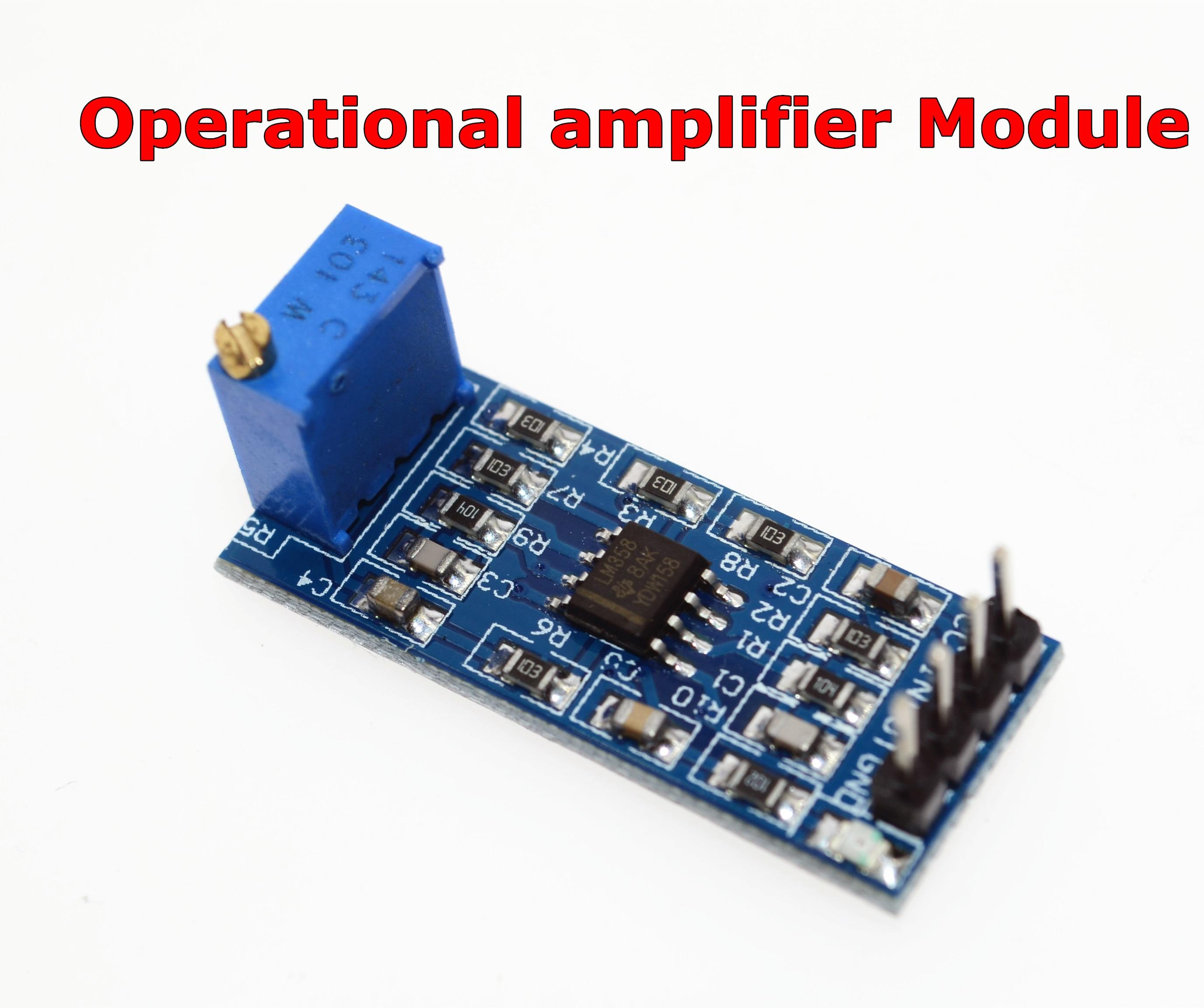5 PCS LM358 100 times gain Signal amplification amplifier Operational Module
