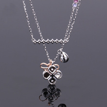 High quality SWA. Innovative fashion classic four-leaf clover water drop series Necklace