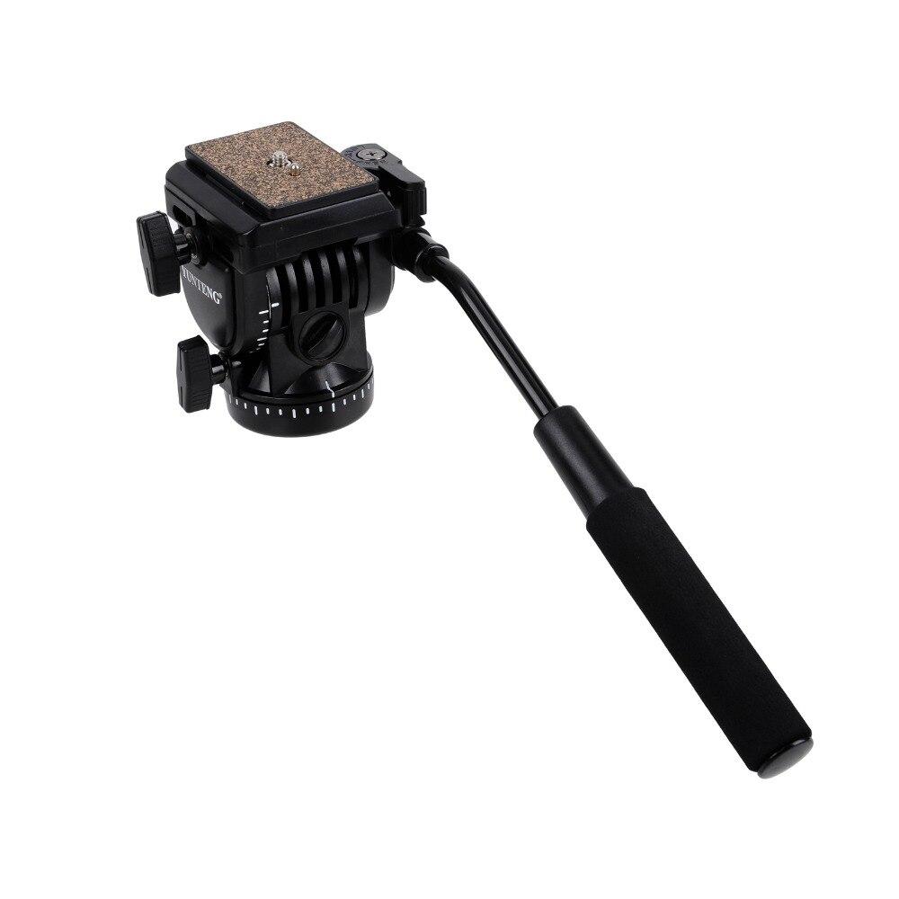 YT- 950 Pro Photography DSLR DV Hydraulic Pressure Fluid Tripod Head + 2 Quick Release Plate for DSLR Camera Video