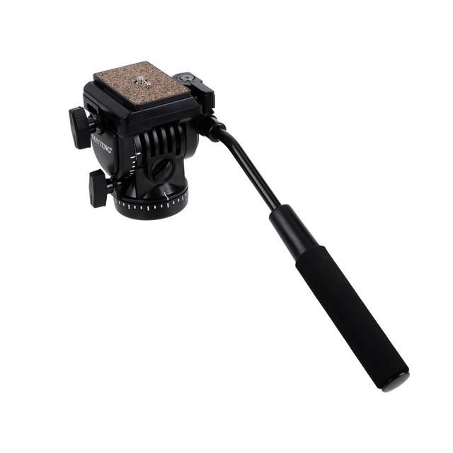 YT- 950 Pro Photography DSLR DV Hydraulic Pressure Fluid Tripod Head + 2 Quick Release Plate for DSLR Camera Video