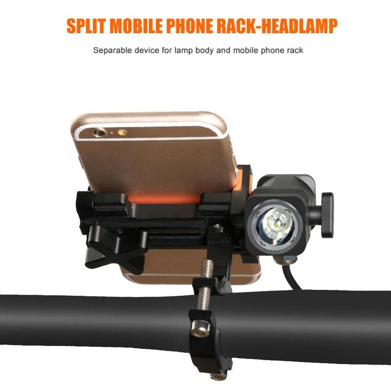 Support pour téléphone vélo universel moto vélo guidon Clip support support de montage GPS avec lampe équipement de cyclisme en plein air - 2