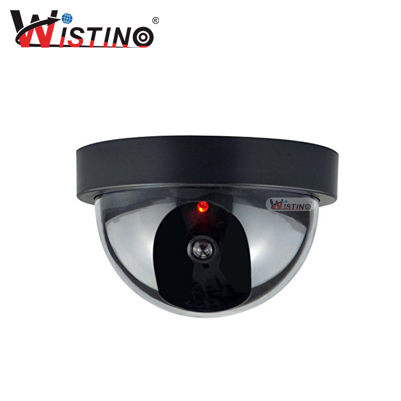 Wistino Simulation Camera Fake Dummy Camera Indoor Outdoor Simulated Home Security Surveillance Indoor Outdoor Led Monitor fake dummy security camera cctv surveillance system with realistic simulated leds outdoor indoor for home cam warning sticker