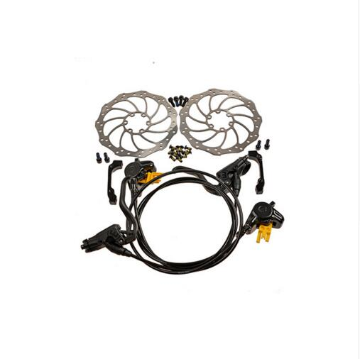 MT2 Mtb Mountain Bike Bicycle Hydraulic Disk Brake Set Front & Rear Black with 160mm Rotors 2016 magura mt2 bike bicycle hydraulic disk brake set front