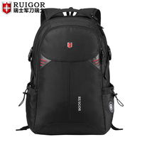 RUIGOR men USB laptop backpack Large Capacity Schoolbag waterproof antitheft backpacks travel bags Casual Fashion sports bag