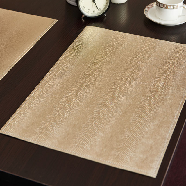 Wonderful High Quality Placemat Leather Table Mats For Dining Absorption Waterproof  Coasters Insulation Kitchen Table Mats Non