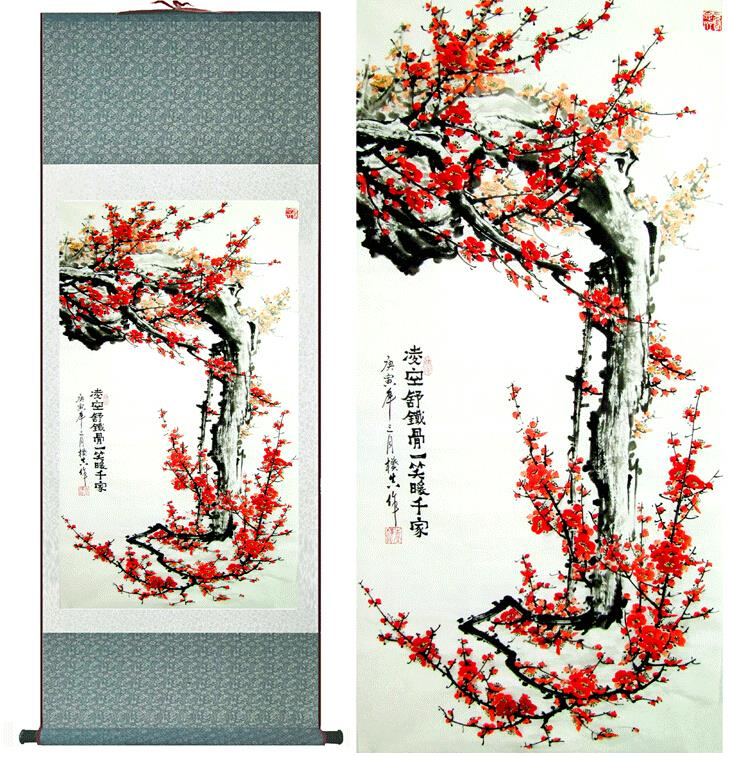 Super quality  traditional Chinese Art Painting Home Office Decoration Chinese painting plum blossom picture