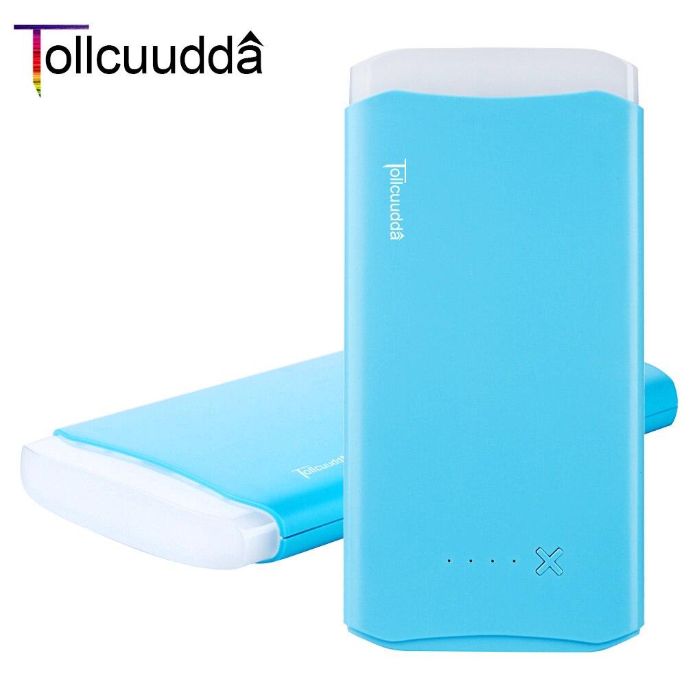 Tollcuudda 8800 mah powerbank cargador 2 salida usb móvil banco de la energía de