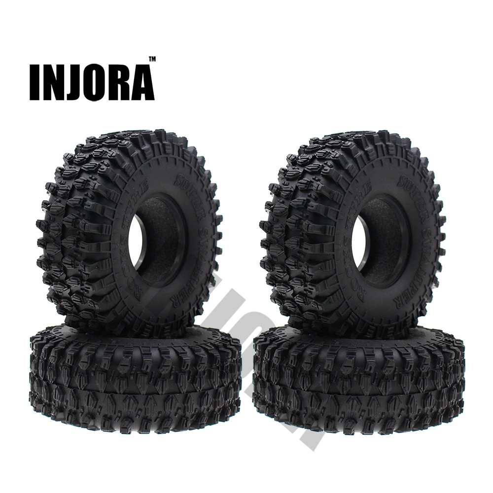4PCS 120MM 1.9 Rubber Rocks Tyres / Wheel Tires for 1:10 RC Rock Crawler Axial SCX10 90047 RC4WD D90 D110 TF2 Traxxas TRX-4 4pcs rc crawler truck 1 9 inch rubber tires