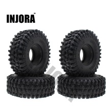 4PCS 120MM 1.9″ Rubber Rocks Tyres / Wheel Tires for 1:10 RC Rock Crawler Axial SCX10 90047 RC4WD D90 D110 TF2 Traxxas TRX-4