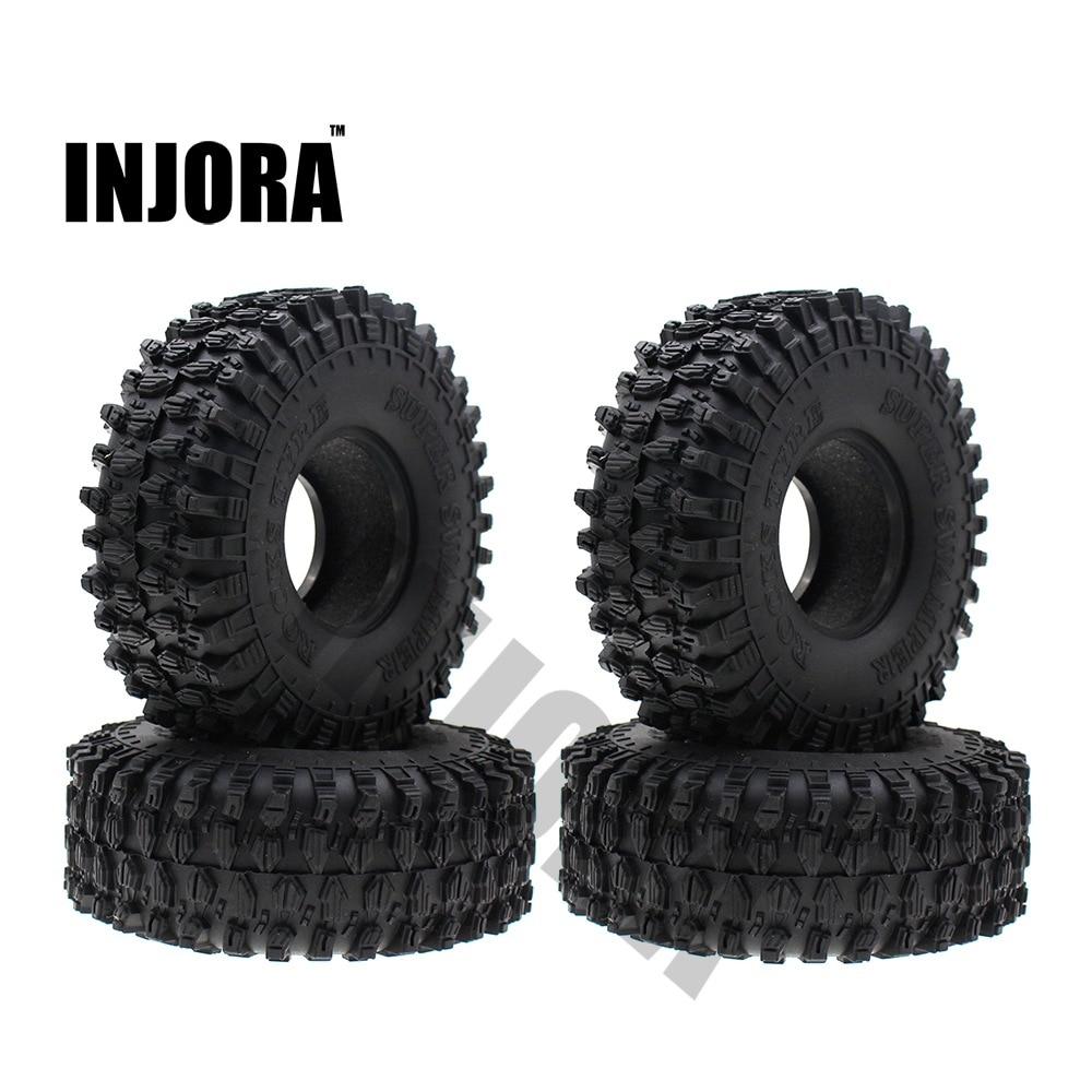 "4PCS 120MM 1.9"" Rubber Rocks Tyres / Wheel <font><b>Tires</b></font> for 1:10 RC Rock Crawler Axial SCX10 90047 RC4WD D90 D110 TF2 Traxxas TRX-4"