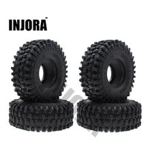 "4PCS 120MM 1.9"" Rubber Rocks Tyres / Wheel Tires for 1:10 RC Rock Crawler Axial SCX10 90047 D90 D110 TF2 Traxxas TRX-4(China)"