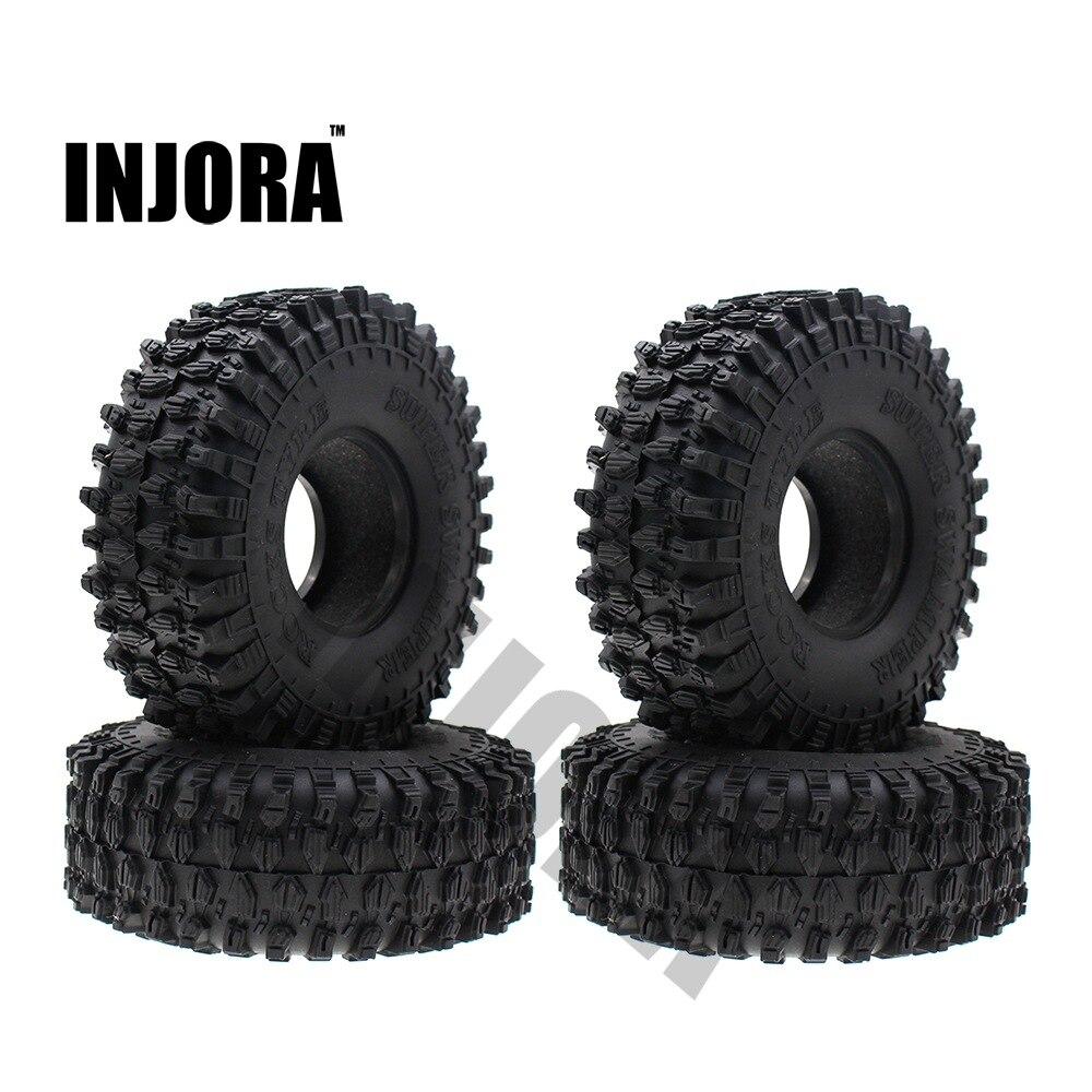 "4PCS 120MM 1.9"" Rubber Rocks Tyres / Wheel Tires for 1:10 RC Rock Crawler Axial SCX10 90046 AXI03007 D90 D110 TF2 Traxxas TRX-4(China)"