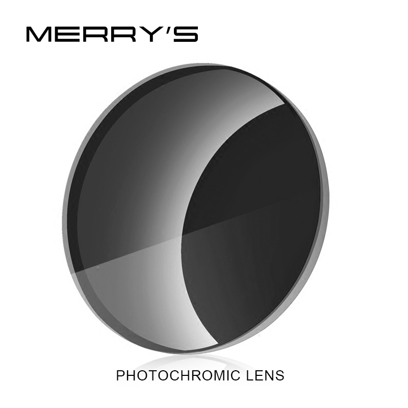MERRYS Photochromic Series 1.56 1.61 1.67 Prescription CR-39 Resin Aspheric Glasses Lenses Myopia Sunglasses Lens