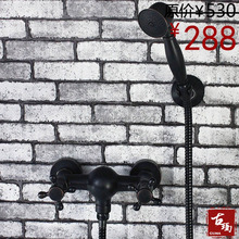 Бесплатная доставка черный античная медь душ в мягком переплете с двойными стенками душа душ смеситель