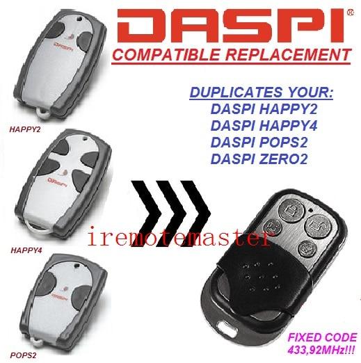 For Daspi remote HAPPY2,HAPPY4,POPS2,ZERO2 replacementFor Daspi remote HAPPY2,HAPPY4,POPS2,ZERO2 replacement
