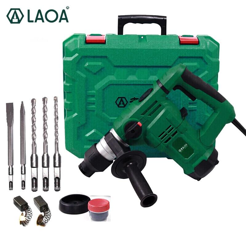 LAOA 32mm Martillo martillo eléctrico multifuncional Martillo 1200W Martillo de demolición Taladro de impacto para el hogar