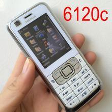 Celular nokia 6120 clássico original desbloqueado, smartphone 6120c com teclado inglês e garantia de um ano
