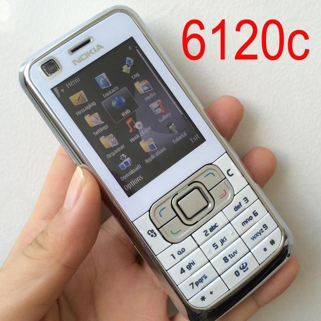 Originele Nokia 6120 Classic Mobiele Telefoon Unlocked 6120c Smartphone Engels Toetsenbord & Een Jaar Garantie