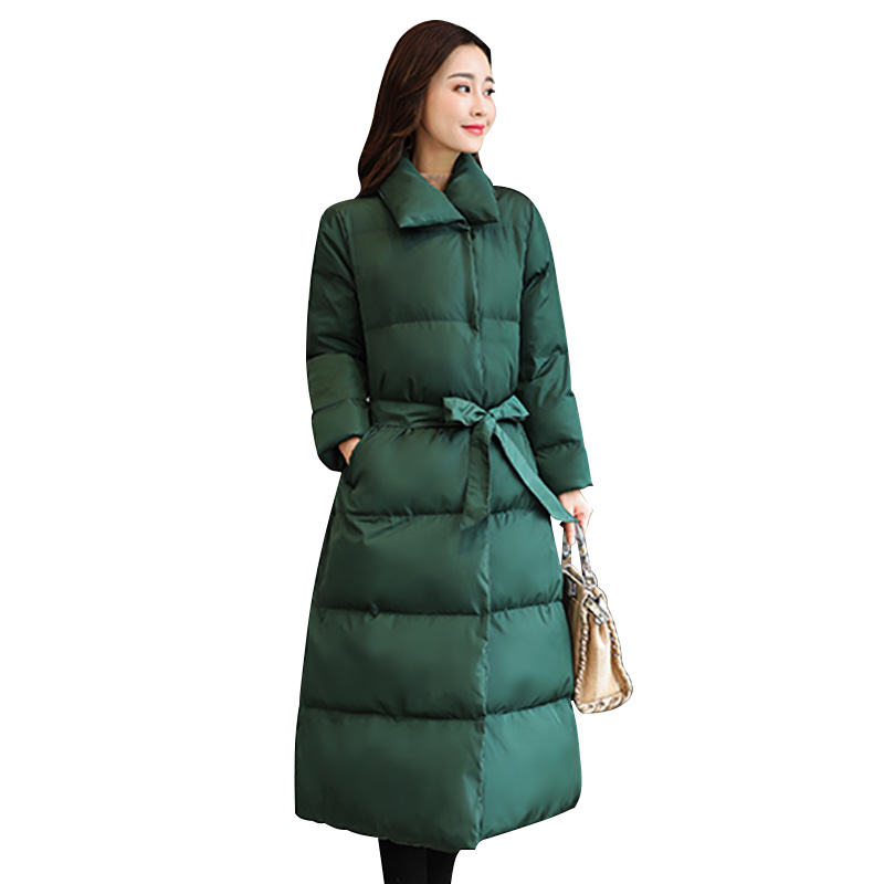 Wmswjh 2019 New Women Winter Jackets Fashion Parkas Long Down Cotton Coat Simple Outerwear Thick Warm