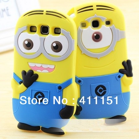 3D Despicable 2 Minions Soft Silicone Back Cover Case Samsung Galaxy S3 SIII i9300 - ALEX ZHOU Store store