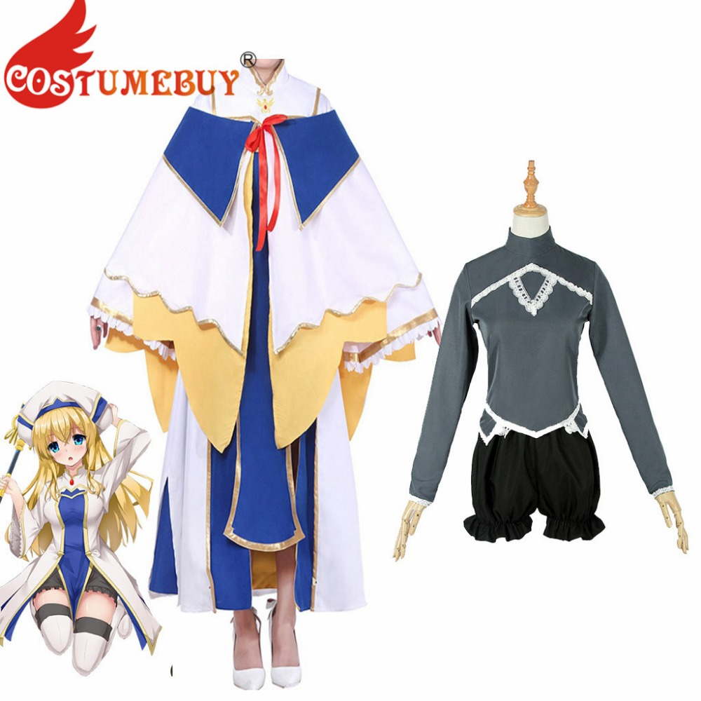 CostumeBuy Anime Goblin Slayer Cosplay Costume Onna Shinkan Cosplay Outfit Women Priest Robe Costume L920