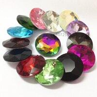Topstone redondo baoshihua piedra de cristal imitación de alta calidad plana rhinestone 8 10 12 14 16 18 27 35mm