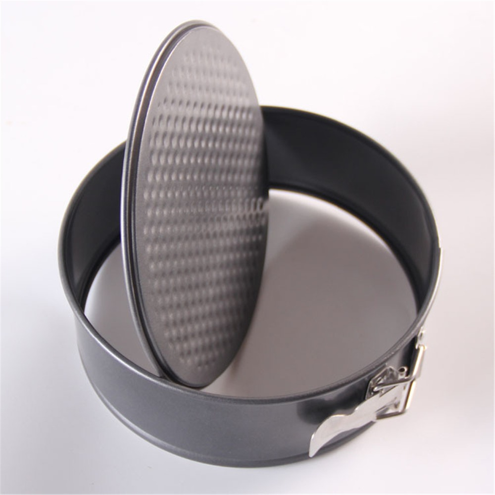 8 Inches Round Loose Base Nonstick Springform Cake Tin Christmas Supplies Carbon Steel Metal Cake