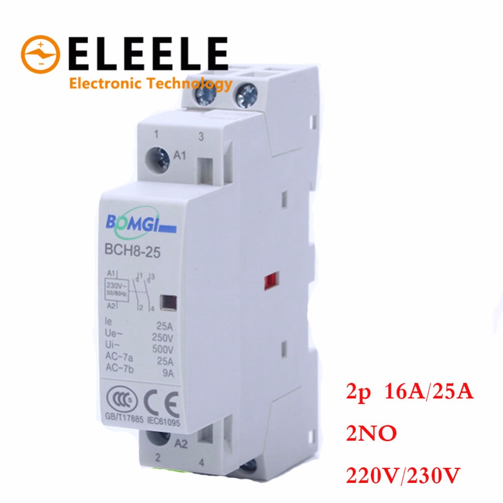 16A 25A 220V/230V 50/60HZ GPCT1 2 Din Rail Household Ac Contactor 2NO for Household Home Hotel Resturant PN35 купить в Москве 2019