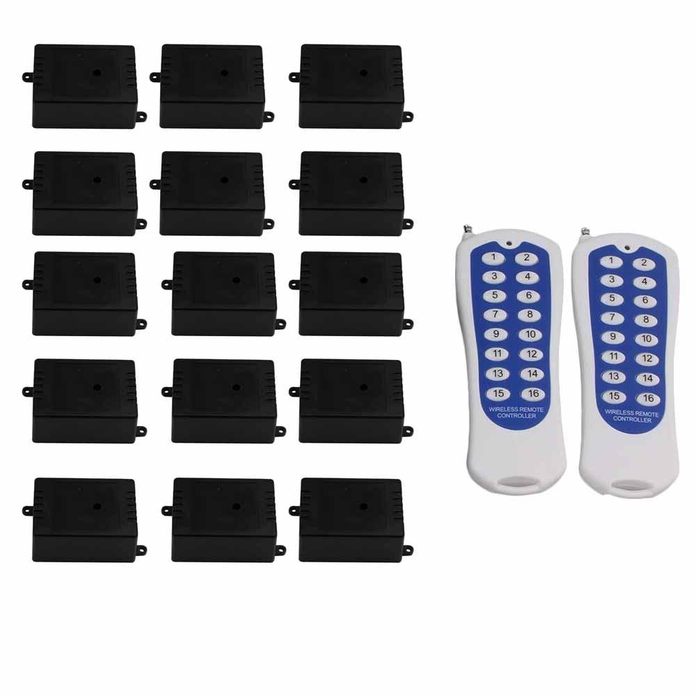 433MHz 1CH 220V 150m Remote Control Self-lock 16 White Key Switch Door433MHz 1CH 220V 150m Remote Control Self-lock 16 White Key Switch Door