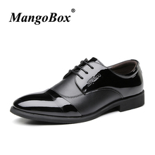Man Dress Shoes Black Brown Pointed Toe Formal for Spring Autumn Men Wedding PU Leather Anti-slip Casual