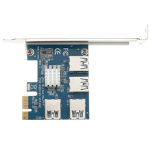 Wholesale PCI-E Riser Card PCI-e Express to 4 Port USB3.0 Converter Extender Express Card Adapter PCIe X1 For Bitcoin Mining BTC