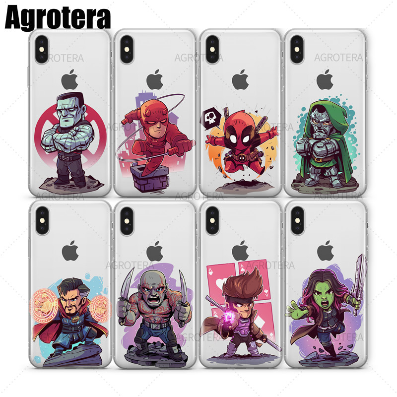 Phone Bags & Cases Rational Agrotera Clear Tpu Case Cover For Iphone X Xs Carnage Colossus Daredevil Deadpool Doctor Doom Strange Drax Gambit Gamora Goblin