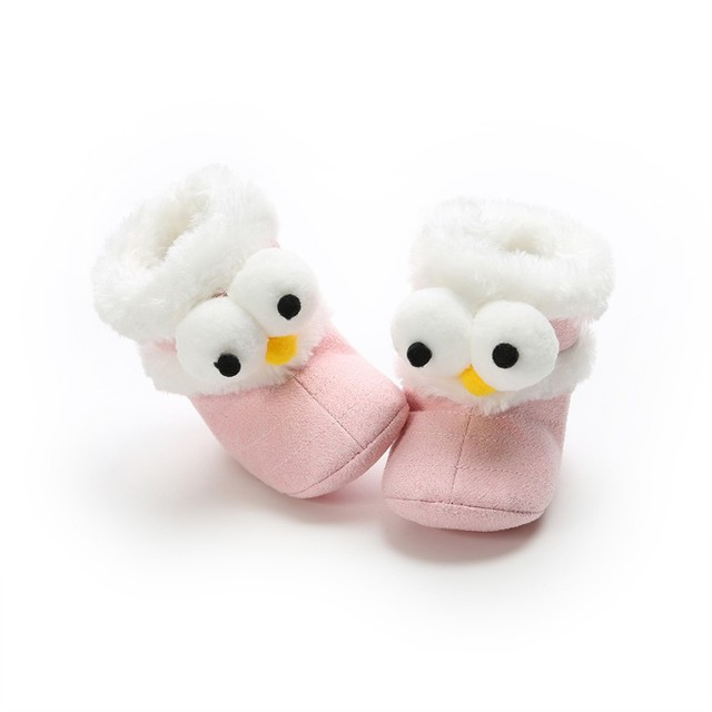 2019 Winter Baby Boots Soft Plush Ball Booties for Infant girls Anti Slip Snow Boot keep Warm Cute Crib Fashion shoes 0-18M 2