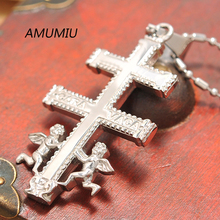 AMUMIU angel kids pendant necklace, stainless steel fashion jewelry 2017 for men/women , wholesale HZP142