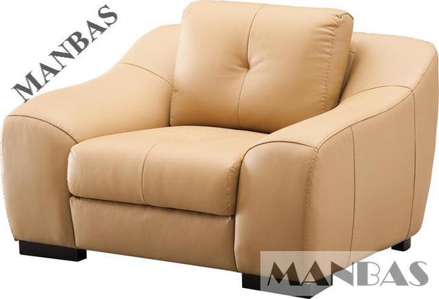 genuine leather chair desk back cushion living room modern furniture barcelona 8266 real sofa 1 seater