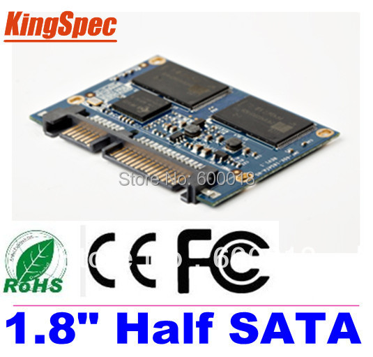 Kingspec 1.8 INCH Half SATA III SATA II Module MLC 256GB 4-Channel For Hpme HD Player,Tablet PC, UMPC,ETC Hard Drives Disk HDD image