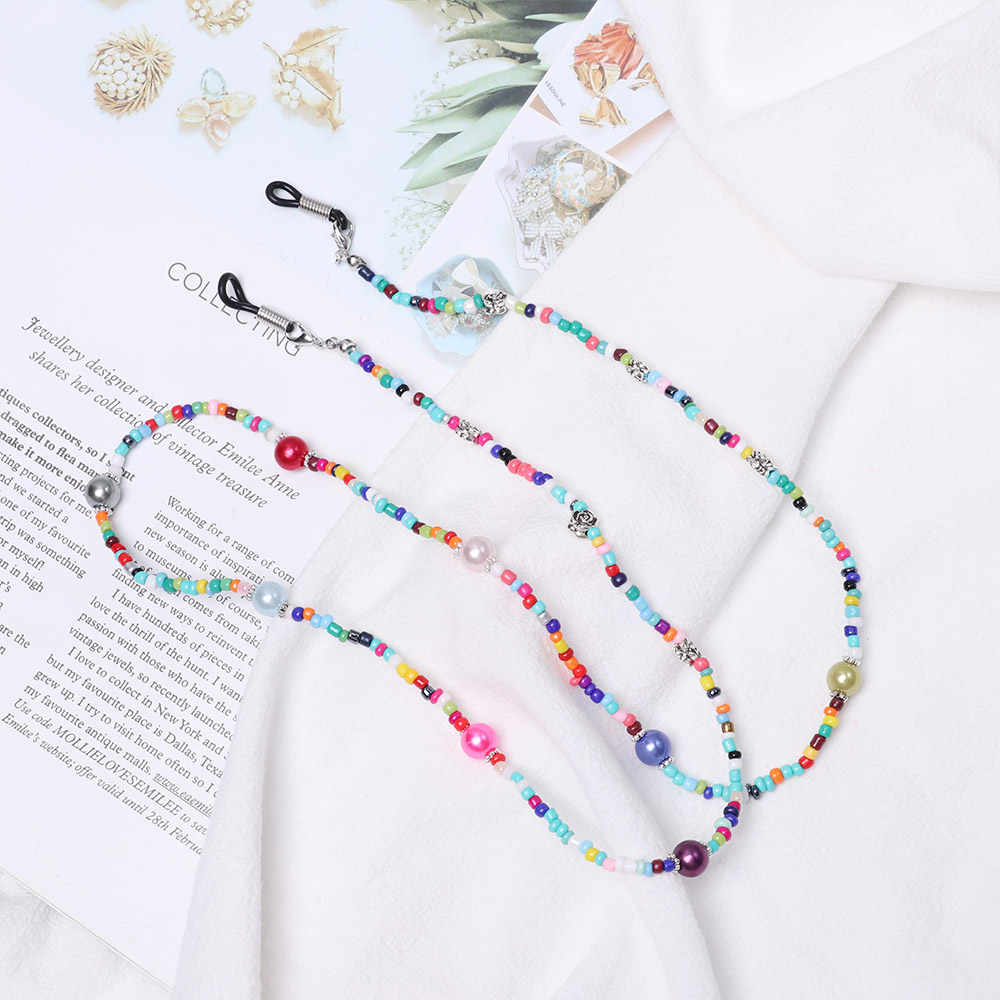 1pc New Fashion Women glass Beaded Eyeglass Chains Sunglasses Reading Glasses Chain Eye wear Cord Holder neck strap Rope