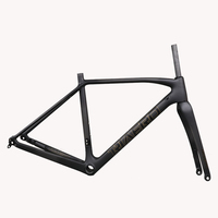 Carbon Toray T700 cyclocross bike di2 Disc Cx Frame With 700*38C Max Tire