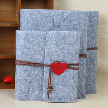 2019 New Felt Three Size Plush Velvet Cover Handmade DIY Vintage Photo Album Birthday Gift Scrapbook