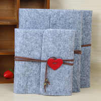 2019 New Felt Three Size Plush Velvet Felt Cover Handmade DIY Vintage Photo Album Birthday Gift Scrapbook Photo Album