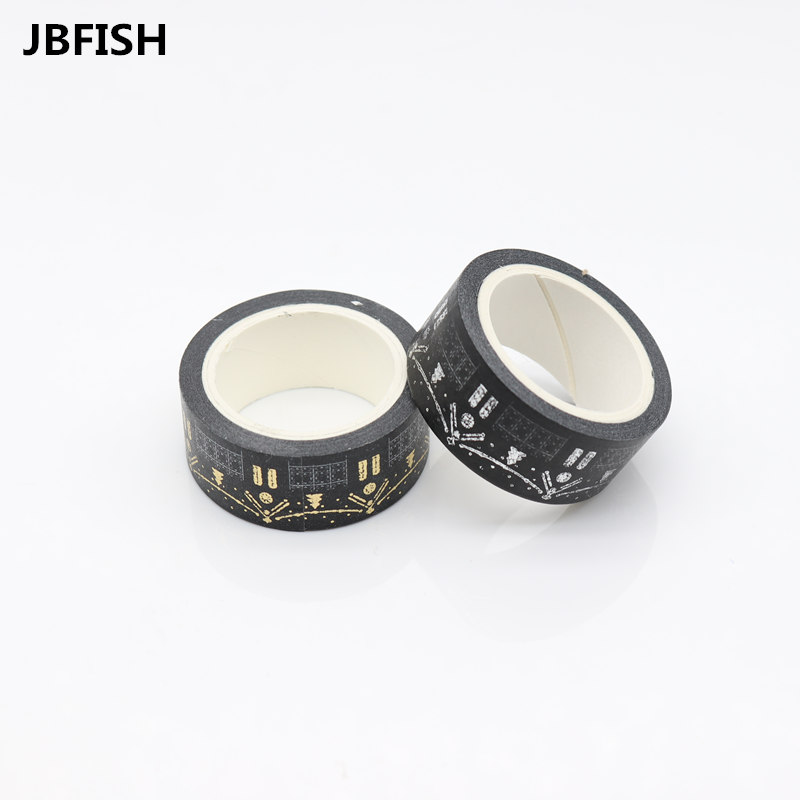 JBFISH Gold Foil Gilded Paper Tapes Print Scrapbooking Christmas DIY Sticky Deco Masking Japanese Washi Tape 1010 rajhans verma santosh kumar pandey and w p badole effect of methods of composting on quality of compost from wheat straw