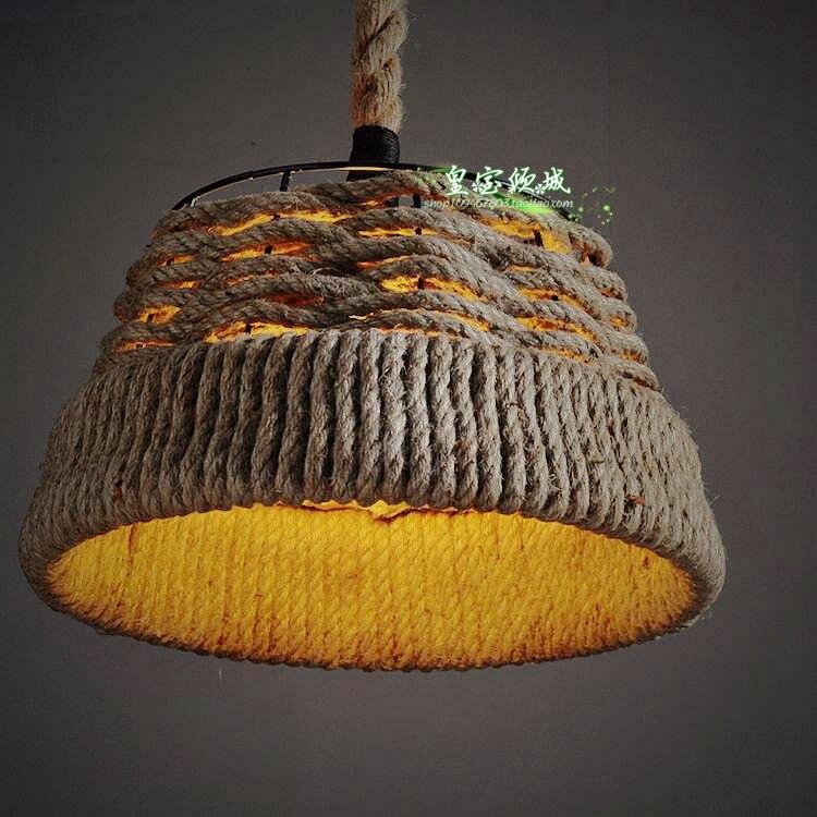 Nordic Restaurant Retro Cafe Neu 37 30 CM Amerikanischen Land Kreative Kunst Seil Kronleuchter Beleuchtung Wohnzimmer Lampe ZCL