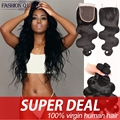 Brazilian Body Wave With Closure 3 bundles Body Wave Brazilian Virgin Hair With Closure 7a Virgin Human Hair With Closure