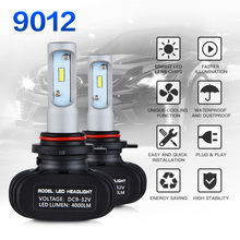 NICECNC 9012 LED Bulb 8 Led Chips CSP 50W 6000K Car Headlight Bulbs All In One LED For Buick Dodge Fiat GMC Jeep Chrysler Ford