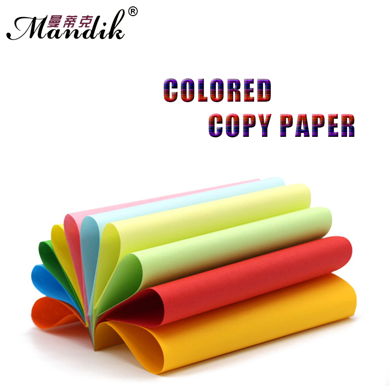 Papel multicolor 80g Papel de copia en color A4 10 colores disponibles 100 hojas por paquete