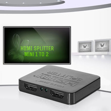 1080P 3D Mini 2 Port HDMI Splitter Switcher 1×2 1 in 2 out HDMI Distributor Splitter For HDTV PS3 XBOX